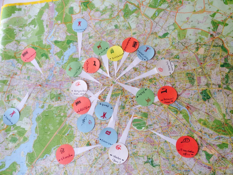 ARRIVING IN BERLIN  A map made by refugees